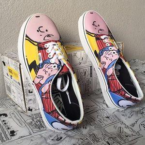 Vans Shoes - vans era(peanuts)pnuts gng/trwht lady10.5